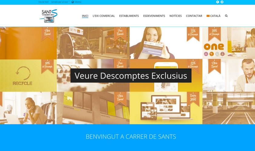 Portfolio de trabajos- página web carrerdesants.cat desarrollada por la agencia de marketing y comunicación Cromek System