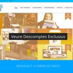 Portfolio de trabajos- página web carredesants.cat desarrollada por la agencia de marketing y comunicación Cromek System