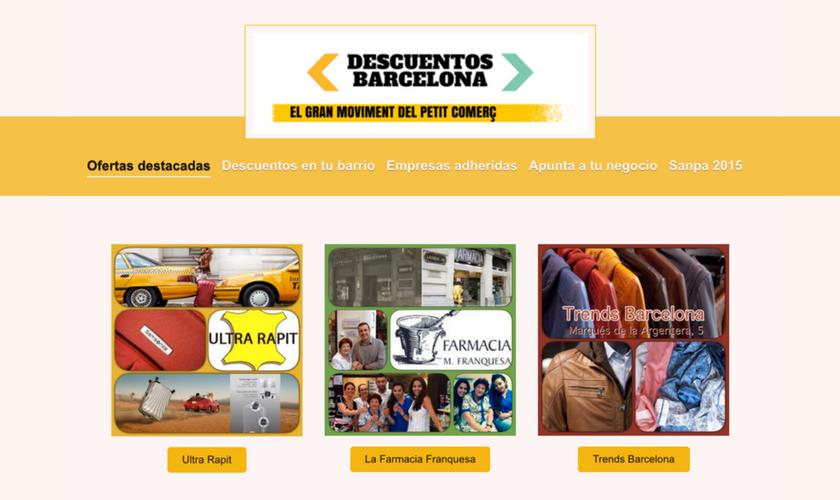 Portfolio de trabajos- página web descuentosbarcelona.es desarrollada por la agencia de marketing y comunicación Cromek System