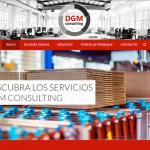 Portfolio de trabajos- página web dgmconsulting.es desarrollada por la agencia de marketing y comunicación Cromek System