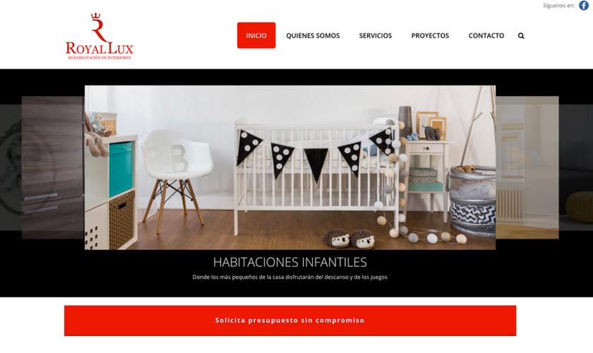Portfolio de trabajos- página web royal-lux.com desarrollada por la agencia de marketing y comunicación Cromek System